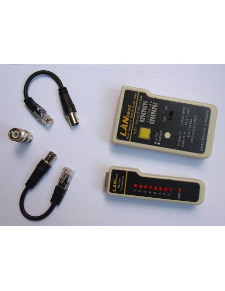 Tester para cable RJ45, RJ11, RJ12 Y BNC