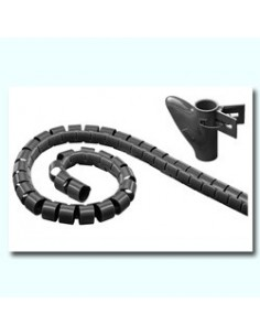 Tubo flexible espiral de Longitud 2,5 mts. NEGRO