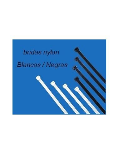 Brida nylon negro 200x2,6 mm. Bolsa 500 und.