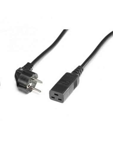 CABLE ALIMENTACION 2 mts. IEC320-C19 16A/250V NEGRO