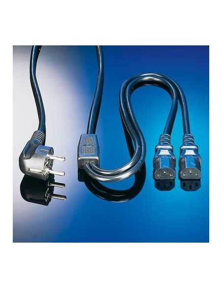 "CABLE ALIMENTACION 2 mts.  ""y"" DIVISOR DE RED-2 CPU"