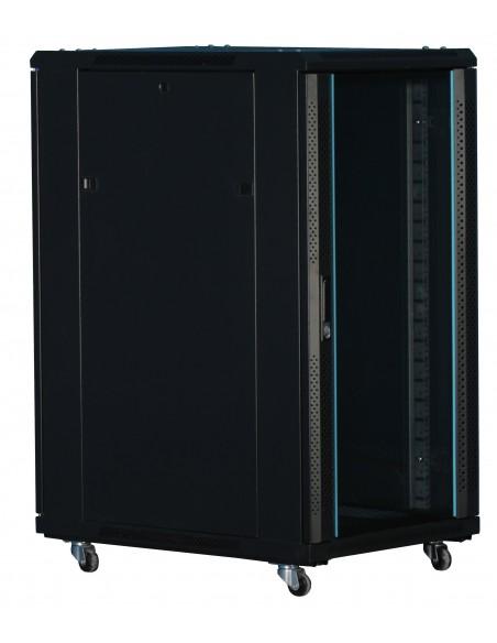 """Rack 19"""" 22U 600X600 Pta cristal. SIN Accesorios"""