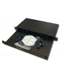 "Bandeja 19"" Extraible de Fibra Óptica para 24 conectores duplex SC"