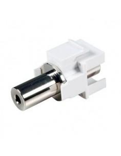 ADAPTADOR KEYSTONE MINI-JACK 3,5mm  STEREO HEMBRA/HEMBRA