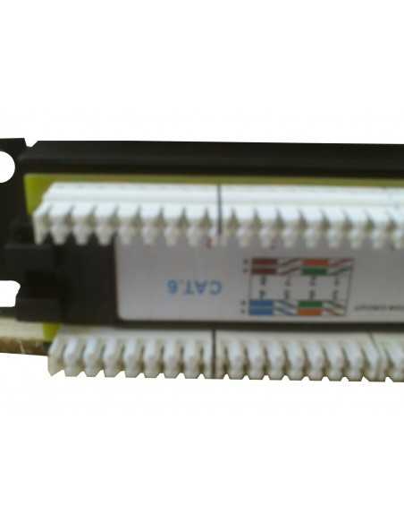 "PATCH PANEL 10"" de 12 puertos CAT6"