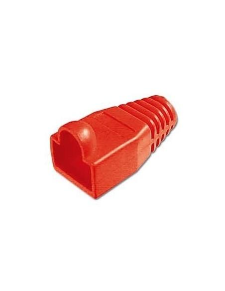 Protector conector macho rj45 (Bolsa 10 und) Color rojo