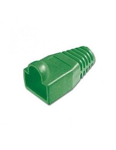 Protector conector macho rj45 (Bolsa 10 und) Color Verde