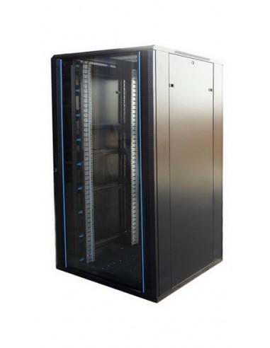"""Rack 19"""" 22U 800x800 mm. Sin accesorios. Puerta de cristal venta rack online"""