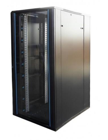 """Rack 19"""" 32U 800x800 mm. Sin accesorios. Puerta de cristal venta rack online"""