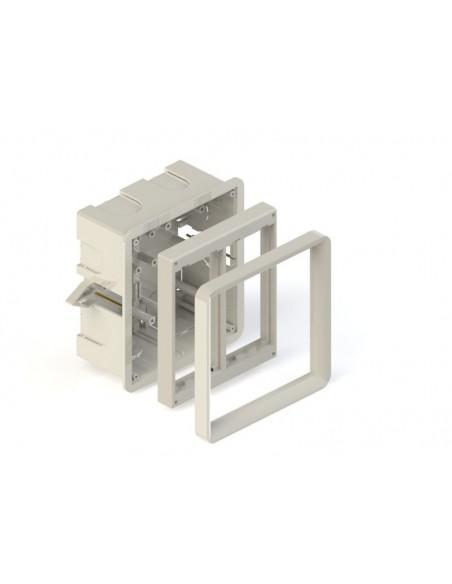 Caja 2 elementos para empotrar en pared