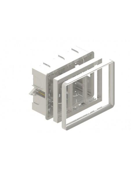 Caja 3 elementos para empotrar en pared pequeña