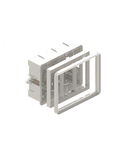 Caja 3 elementos para empotrar en pared grande