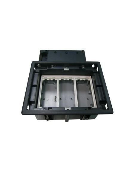 Caja de empotrar en suelo 92-128 mm de 3 elementos. ekanet