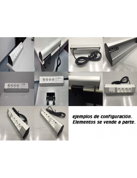 Caja de mesa para 5 mecanismos ejemplos de montaje