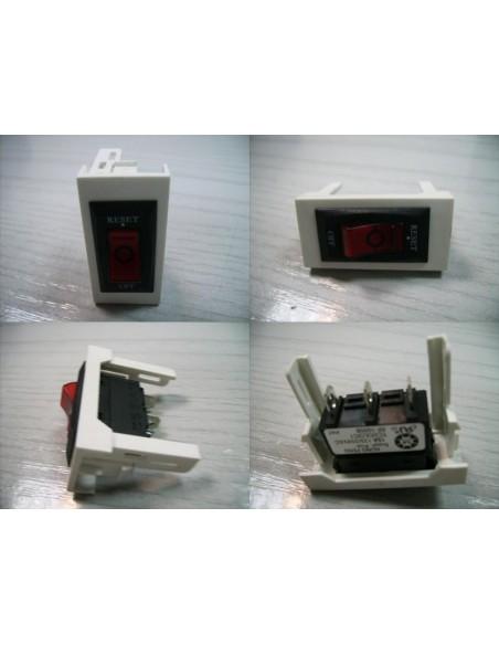 Interruptor unipolar para 10A con led 45x22,5.