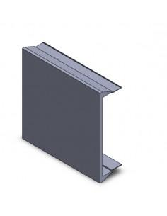 Tapa ciega de 45x45 de aluminio para perfil sencillo.