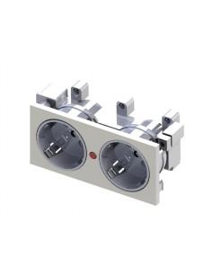 Shucko doble con protección para caja de mecanismos