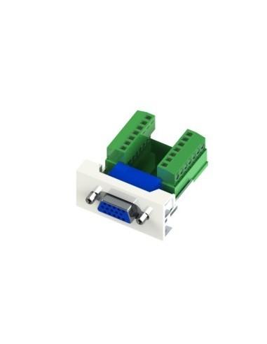 Módulo 22.5x45 para VGA Hembra a Conector