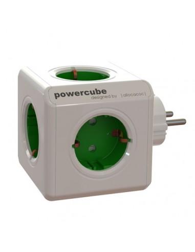 Allocacoc 16896 PowerCube - Ladrón de 5 enchufes con forma de cubo, color blanco