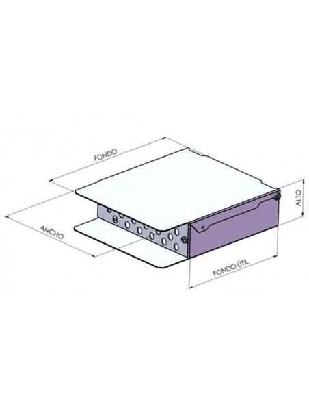 Caja de fibra óptica de 24 puertos para conector SC.