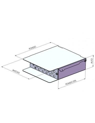 Caja de fibra óptica de 24 puertos para conector ST.