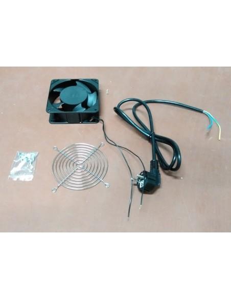 Kit 1 Ventilador 220V 119x119x38mm + cable + rejilla