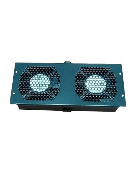 Ventilación Techo 2 Ventiladores para Rack Marca Klives
