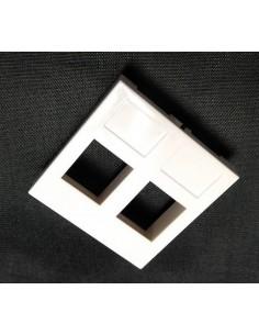 Módulo 45x45 2 huecos KEYSTONE sin ventana.