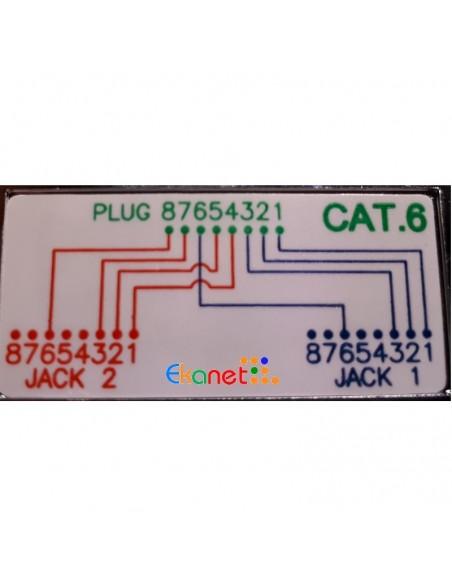 Doblador D/D RJ45 CAT6 FTP 1M/2H