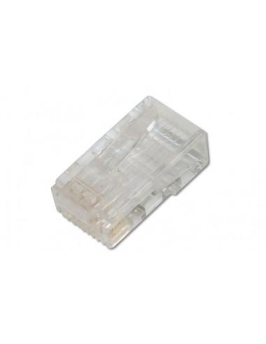 Conector RJ45 CAT6 UTP para cable rígido (Bolsa 100 Und.)
