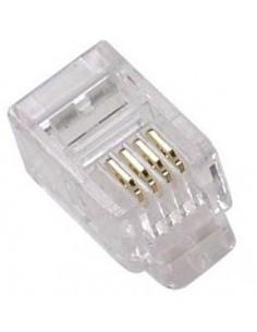 Conector RJ11 4 Hilos bolsa 100 und.