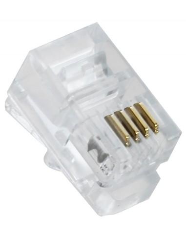 Conector RJ11 4 Hilos (Bolsa 100 und.)