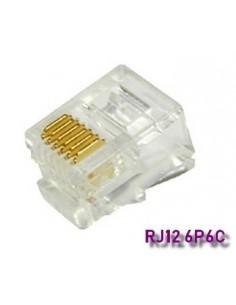 Conector RJ12 6 Hilos (Bolsa 100 und.)