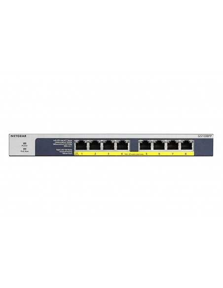 Switch 8 puertos Gigabit Eternet PoE+ no gestionable