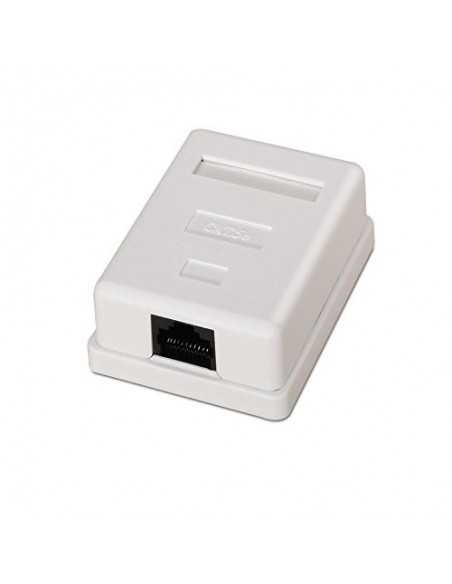 Roseta Superficie con 1 conector RJ45 CAT5E FTP.