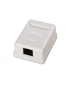 Roseta de superficie con 1 RJ45 CAT.6 FTP.