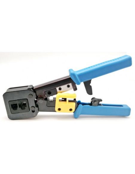 Herramienta para cortar y crimpar los conectores RJ45 Cat.6 - 4136
