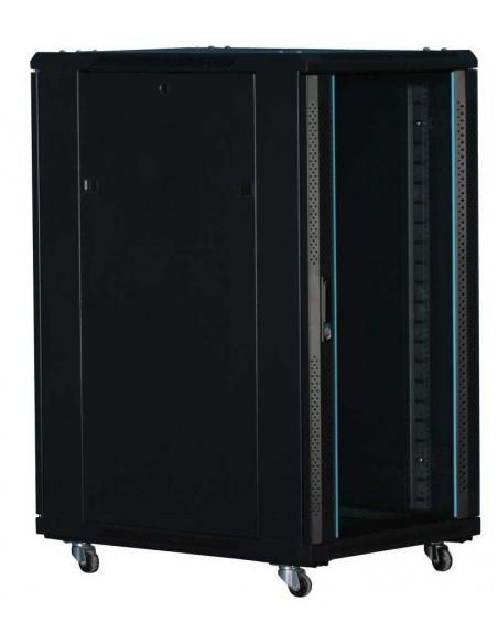 """Rack 19"""" 18U 600x600 Pta cristal. SIN accesorios."""