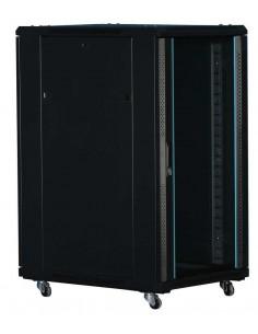 "Rack 19"" 22U 600x800 mm. Sin accesorios. Puerta de cristal"
