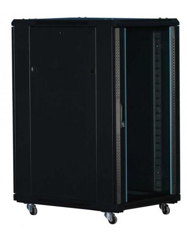 "Rack 19"" 18U 600x800 mm. Con puerta de cristal rack barato monolyth"