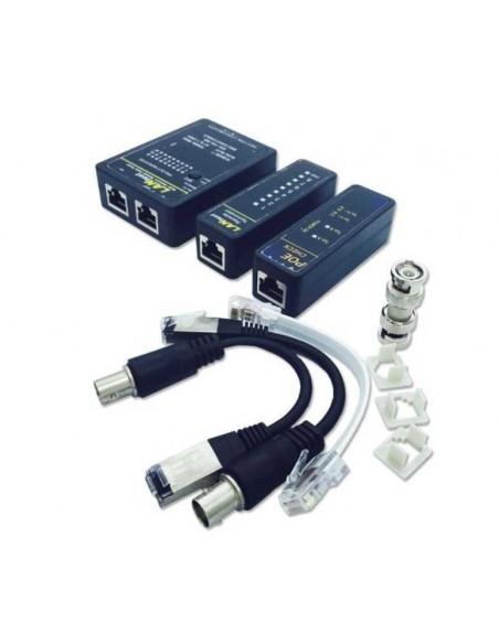 Testeador de cable de Red RJ45/R11/BNC con buscador POE