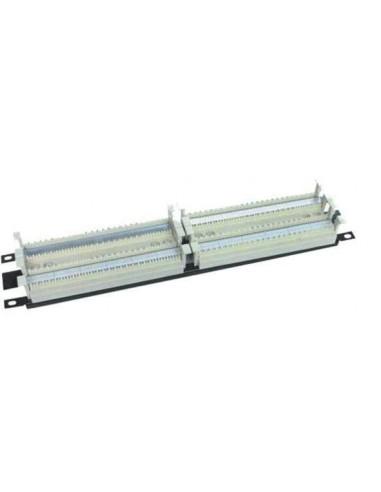 """Panel 19"""" 2U sistema 110 200 pares economico para rack"""