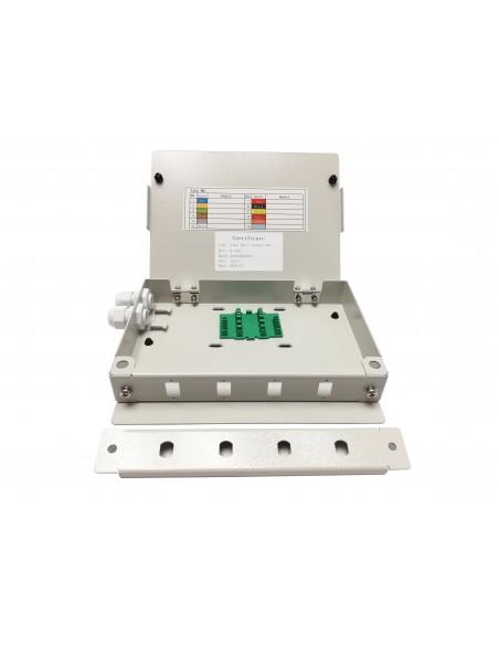 Caja Fibra Óptica Int.Pla. 4 fibras SC/ST simplex