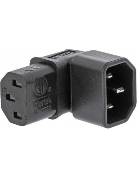 Adaptador C13 a C14 angulado Vertical