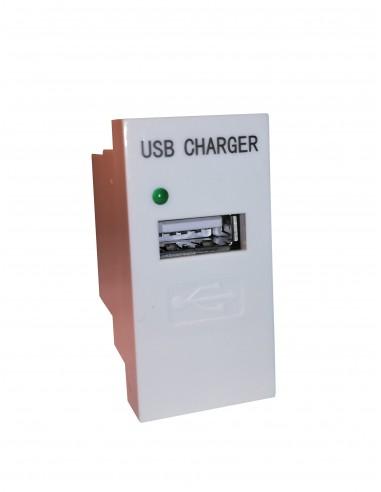 Módulo 22.5x45 con cargador USB Blanco