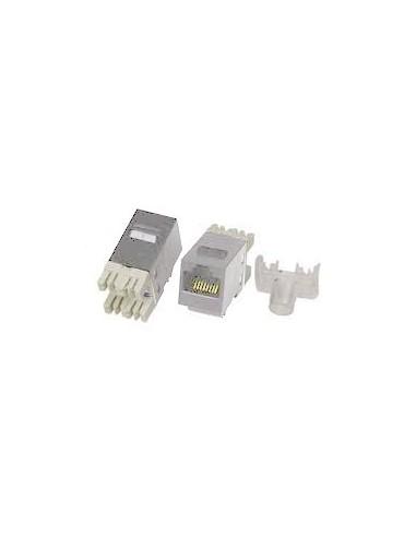 Conector RJ45 Hembra CAT5E UTP 90º BLANCO
