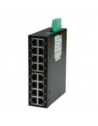 Switch industrial 16x RJ-45 carril DIN