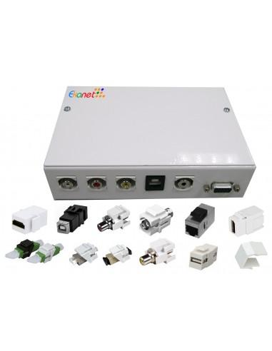 caja metálica multimedia