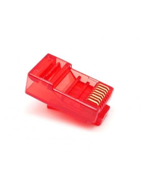Conector RJ45 CAT.6 UTP Cable rígido 8 hilos.