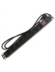 Regleta Rack 8 Tomas con Protección + Interruptor